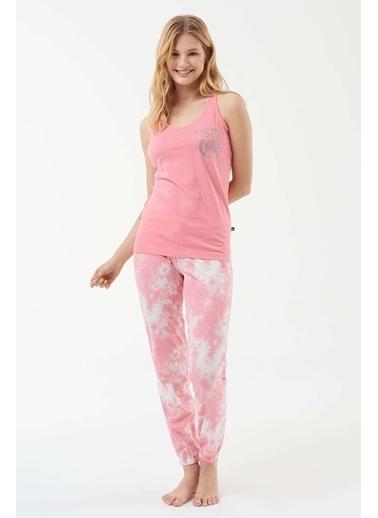 U.S. Polo Assn. Kadın Atlet Pijama Takım Pembe